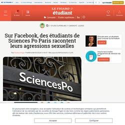 Sur Facebook, des étudiants de Sciences Po Paris racontent leurs agressions sexuelles