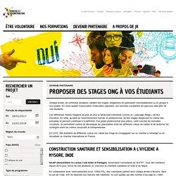 Proposer des stages ONG à vos étudiants
