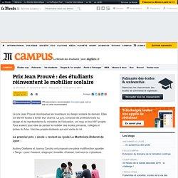 Prix Jean Prouvé : des étudiants réinventent le mobilier scolaire