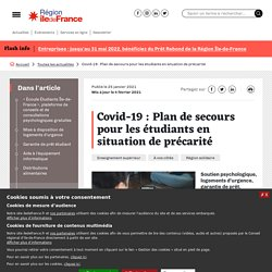 Covid-19 : plan de secours pour les étudiants en situation de précarité