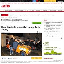 Deux étudiants tentent l'aventure du 4L Trophy