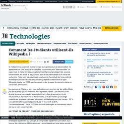 Comment les étudiants utilisent-ils Wikipedia ?