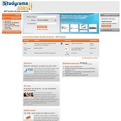 Les offres de jobs étudiants (baby sitting, vendanges, animation.) sur Studyrama-Jobs