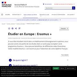 Étudier en Europe : Erasmus +