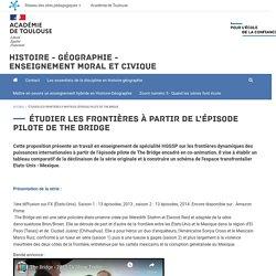 Étudier les frontières à partir de l'épisode pilote de The Bridge