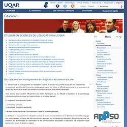 Étudier en sciences de l'éducation à l'UQAR - Éducation
