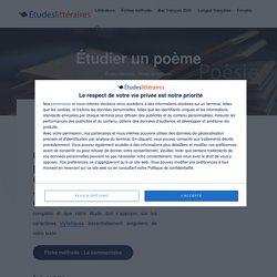 Étudier un poème