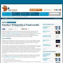 Etudier Wikipédia à l'université