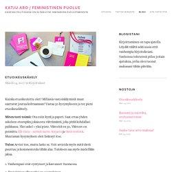 Etuoikeuskävely — KATJU ARO / FEMINISTINEN PUOLUE