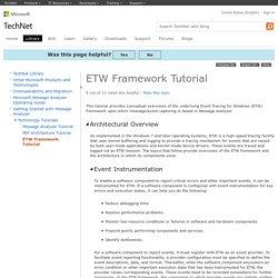 ETW Framework Tutorial