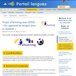 Projet eTwinning avec BYOD - « On apprend la langue avec le football »