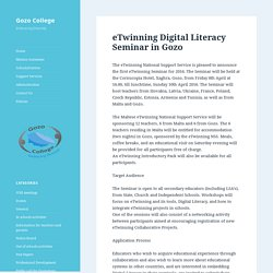 eTwinning Digital Literacy Seminar in Gozo – Gozo College