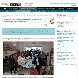 eTwinning : Le Label Européen pour les élèves de l'EREA Isoard de Montgeron ! - Atelier Canopé de l'Essonne