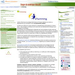 eTwinning - Usages du numérique éducatif