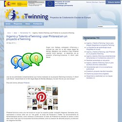 Usar Pinterest en un proyecto eTwinning