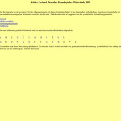 Deutsches Etymologisches Wörterbuch