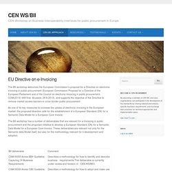 EU Directive on e-Invoicing