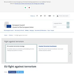 EU fight against terrorism