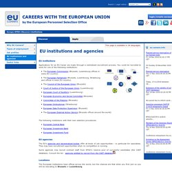 EU institutions and agencies