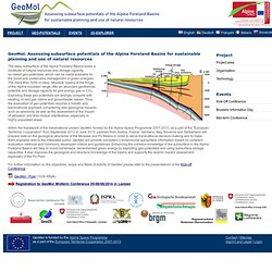 EU-Projekt GeoMol - GeoMol
