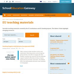 EU teaching materials
