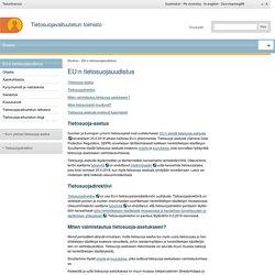 Tietosuojavaltuutettu - EU:n tietosuojauudistus