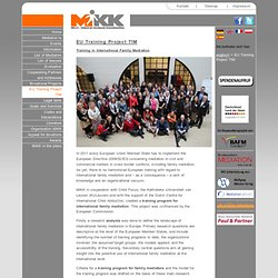EU Intl Family Mediation Training Project - MiKK