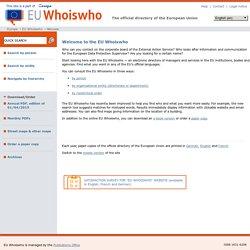 EU Whoiswho