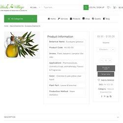 Eucalyptus Essential Oil, Buy Pure Natural Essential Oil Supplier in India