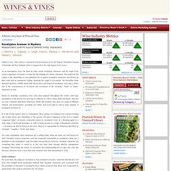 Eucalyptus Aromas: A Mystery - Wines & Vines - Wine Industry Feature Articles