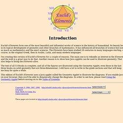 Euclid's Elements, Introduction