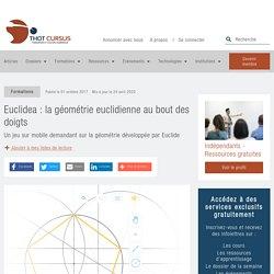 Euclidea : la géométrie euclidienne au bout des doigts - Thot Cursus