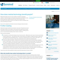 Eucomed - How does medical technology benefit people?