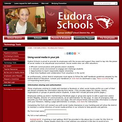 Eudora Schools USD 491 - Using social media in your job