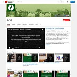 EUFMD via YOUTUBE - JUIN 2019 - Nouvelles vidéos anglophones et francophones du webinaire consacré à la fièvre aphteuse.