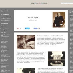 Eugene Atget / Biography & Images - Atget Photography.com
