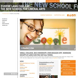 Colleges in NYC | Eugene Lang College The New School for Liberal Arts