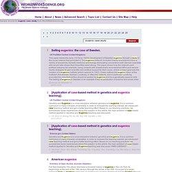 Eugenics Essays (Examples)
