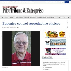 Eugenics control reproductive choices