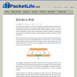 EUI-64 in IPv6