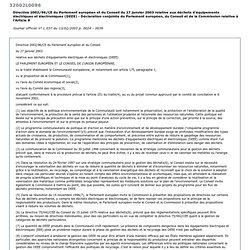 Directive DEEE - 2002 - Exemple de logistique inversée