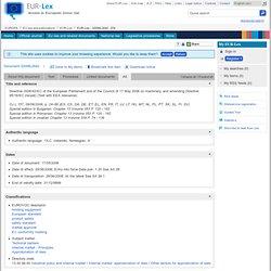 Eur-lex : European union law