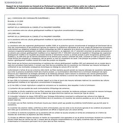 EUROPE - 2009 - Rapport de la Commission au Parlement européen et au Conseil publié conformément à l'article 18, paragraphe 3, d