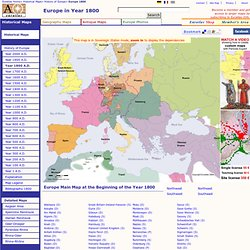 Map of Europe in Year 1800