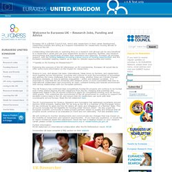 Euraxess - Welcome to Euraxess UK – Research Jobs, Funding and Advice