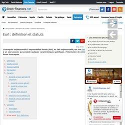 Eurl : définition et statuts