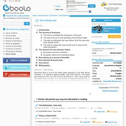 eurodisney business case Business case template project title: business unit: business sponsor: date: 1) what is it you want to accomplish a) specific objectives b) type of activity—develop new product or service or enhancement (new benefits) to existing product/service or update/modernization of existing product/service 2) identify business case and link these.