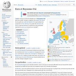 Euro et Royaume-Uni
