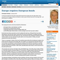 Why the euro needs Eurobonds