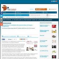 Eurocatering, le vocabulaire du restaurant dans six langues européennes